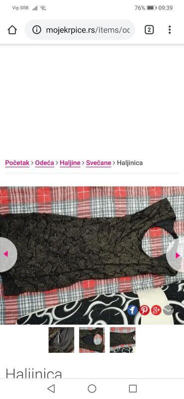 Crna mini haljinica jednom nosena na svadbi cipka se presijava na