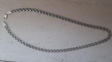 595 проба в Кыргызстан: Продаю мужскую серебряную цепочку. 925.проба. Очень мало носили