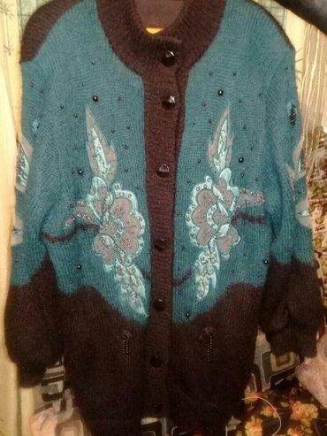 Женские свитера в Кыргызстан: Тёплый( кардиган) с подкладом б/у размер. 50-52