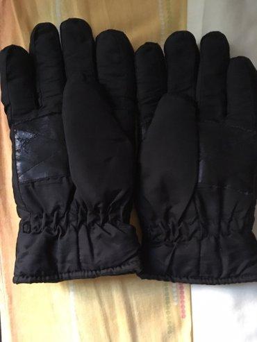 Prodajem muske termo rukavice crne boje, 27x13cm, postavljene, tople, - Belgrade
