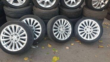 купить диски vossen r17 в Кыргызстан: Mercedes R17 спицы! БЕЗ РЕЗИНЫ! Диски в отличном состоянии! Один диск
