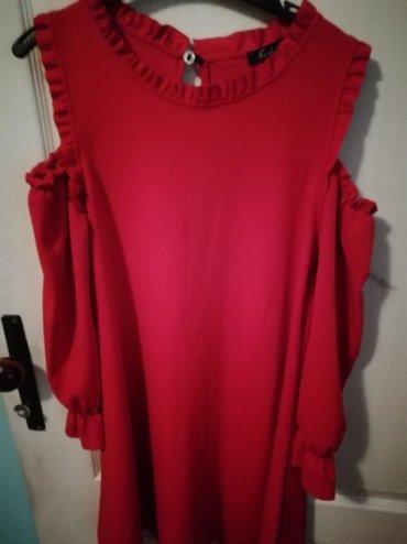 Haljina-s-msandale-poklon - Srbija: Crvena haljina, l velicine, super moderna, fenomenalno stoji, kao
