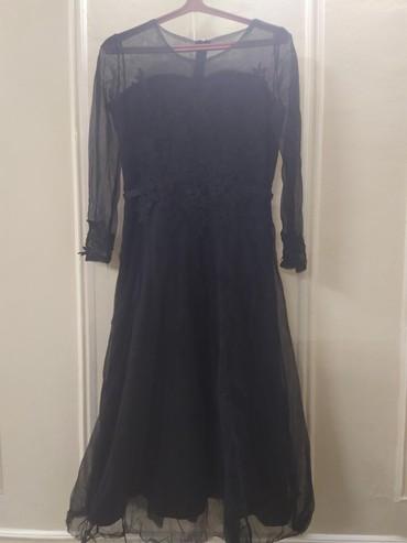 вечерние платья для свадьбы в Кыргызстан: Продаю вечерное платье, черного цвета, одевала один раз на свадьбу