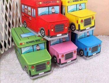 Kutija autobus za odlaganje igračaka i sitnih stvari, oba dela se