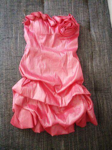 Obuca zenska - Srbija: Jako kvalitetna postavljena zenska haljina roze boje Vel M Jednom obuc