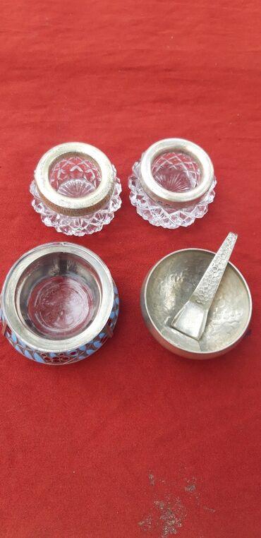 Комузы - Бишкек: Советские солонки,одна с серебренным ободком(2000 сом),три других-