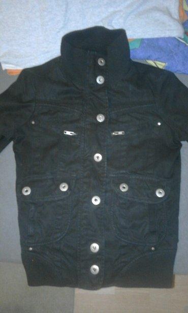 Zenska jakna od crnog teksasa fishbone xs,prelepa. - Pancevo