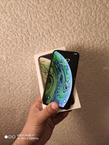 Apple XS black 64 gb yeni kimidir herseyi var pil omru 85 faiz