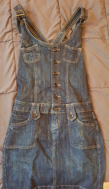 Prodajem teksas haljinu na tregere u odlicnom stanju,velicina 27 - Novi Sad