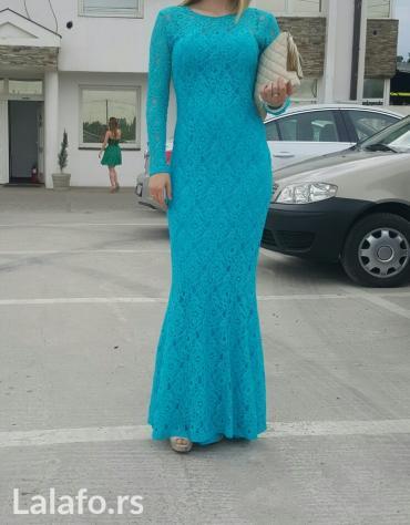 Duga leprsava haljina - Kraljevo: Duga sirena haljina, cipka je mnogo dobrog kvaliteta i ispod celom
