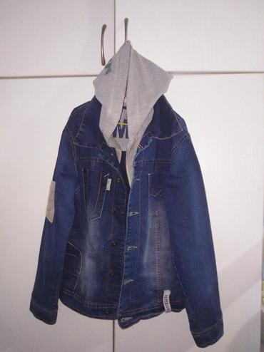 Dečije jakne i kaputi | Uzice: Nova Bambino teksas jakna vel 10 sa usivenom kapuljacom,Cena 1500