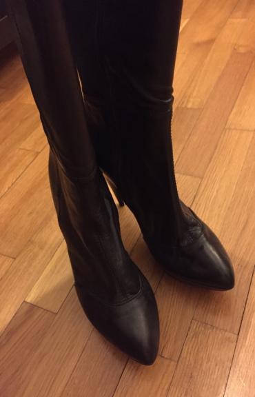 Zara high knee length high heels black leather boots . New , never σε Βόρεια & Ανατολικά Προάστια - εικόνες 6