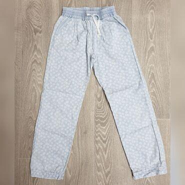 Тонкие летние х/б брюки под джинсу Mother Care для девочки 8-9 лет в