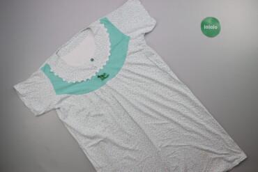 Жіноча нічна сорочка з принтом р. L    Довжина: 95 см Ширина плечей: 3