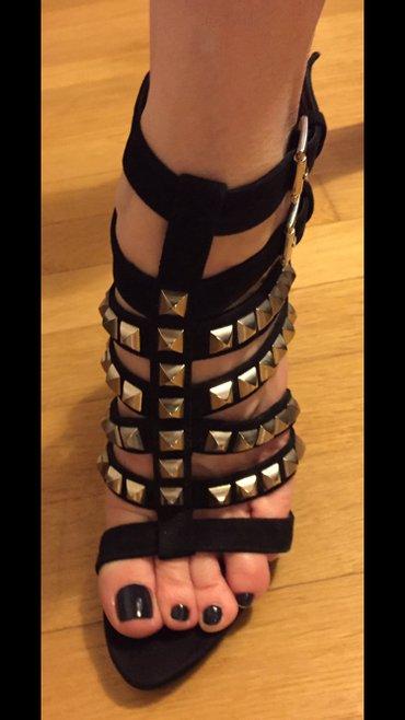 Black high heels studs sandals size 39 New ! Never worn . Bought 80£ σε Υπόλοιπο Αττικής - εικόνες 3