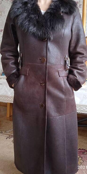 Продается дублёнка, размер 48, цвет темно коричневый, очень красивая