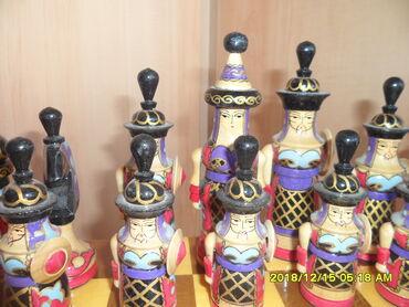 Шахматы - Кыргызстан: Продаются шахматы нарды национальные доска большая, орех