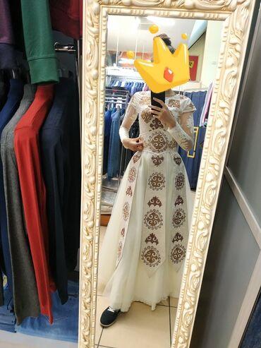 вечерние платья для полных дам в Кыргызстан: Продаю платье с шубкой на Кыз узатуу! Одевала один раз. Рост 172