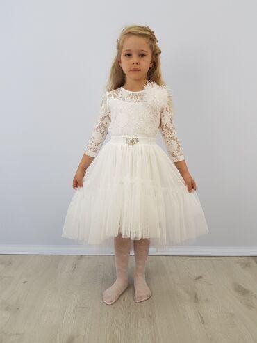 Нарядное платье для девочки артикул: владлена размеры: 116, 122, 128