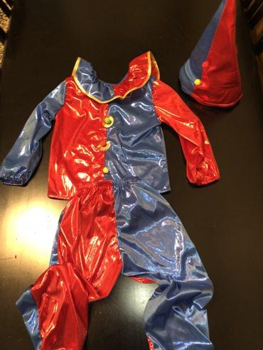 Новогодний костюм петрушки /клоуна !на возраст 4/5 лет цена 500 сом в Чаек