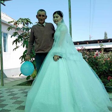 свадебное платье футляр в Кыргызстан: На прокат только 1 раз надела новая + фата ватсап