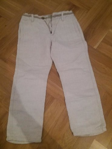 Zara lanene pantalone, 4/5(110cm), jednom obucene(za svadbu), krem - Belgrade