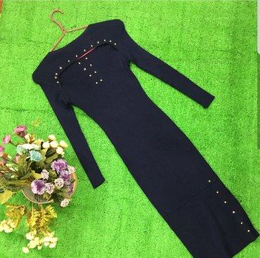 Платье трикотажное. На груди разрез. в Бишкек