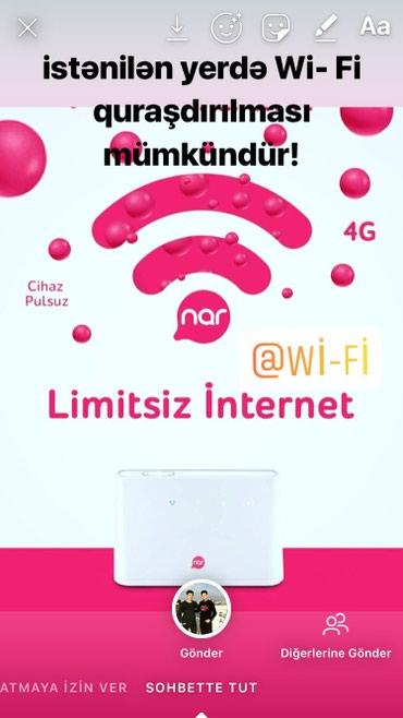 Bakı şəhərində Istənilən yerdə Wi- Fi quraşdırılması mümkündür!