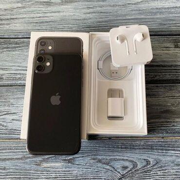 Телефон бишкек купить - Кыргызстан: Продаю Айфон iPhone 11 (чёрный) 128 Полный комплект + два чехла  Со
