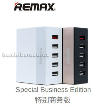 зарядное 5v в Азербайджан: Adapter Remax RU-U1 5 USB 6AUSB-1 DC 5V-1.0AUSB-2 DC 5V-1.0AUSB-3 DC
