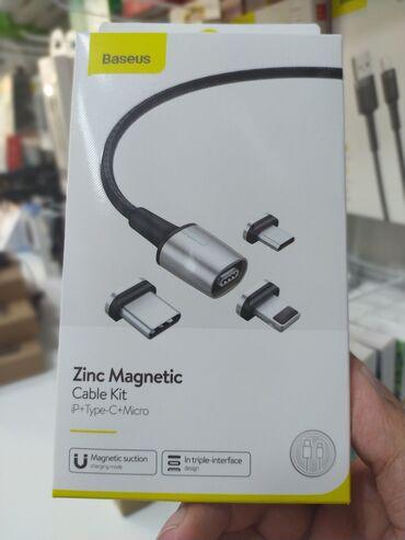 Original Baseus maqnit usb kabel 3 başliBaseus usb kabelApple iphone