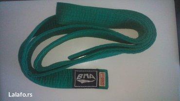 Zeleni i braon pojas za aekido,karate 260cm zajedno 700din - Belgrade