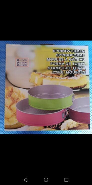 Kola - Srbija: Set od 3 SPRINGFORM kalupa za kolače i torte – bordo1,300rsdPrečnik