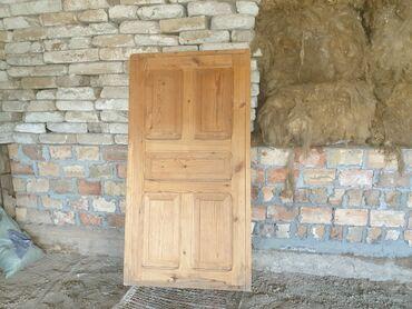 Дверь из дерева с коробкой для дома или для бани, размеры: 90х170см