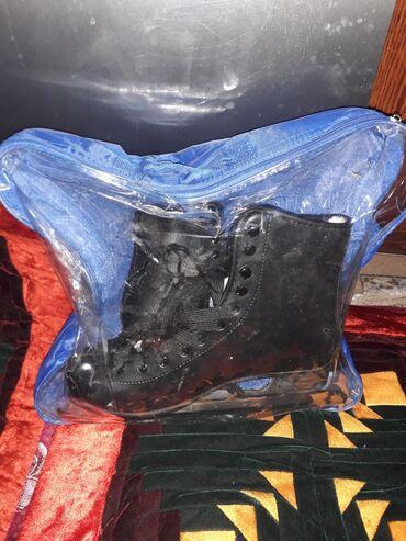 Коньки - Кыргызстан: Продаю новые коньки. Цвет чёрный. 39 размер