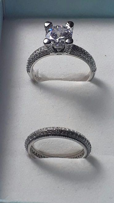 Xırdalan şəhərində Gümüş 2li üzük əldə olur çatdırılma var tək tək də satilir
