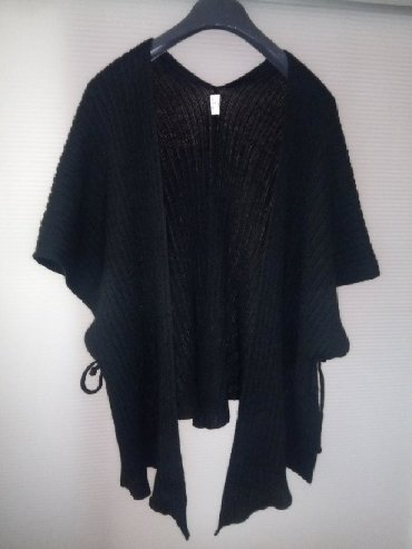 Sako crne boje - Srbija: Modus kardigan/ogrtač crne boje, vezuje se sa strane, materijal 70%
