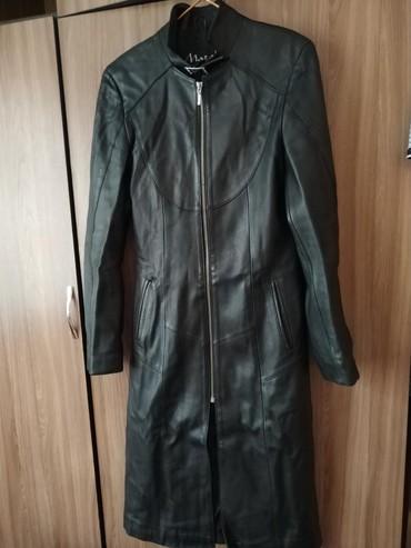 сюртук весенний в Кыргызстан: Кожаный сюртук турецкий 38(44)размер.Чуть порван один карман на фото