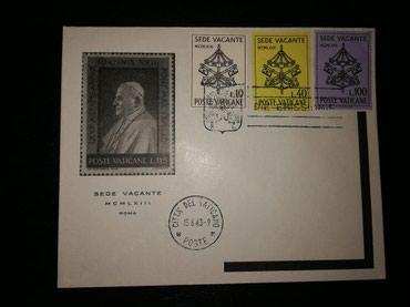 Марки Ватикан 1963.Новый конверт с печатями первого дня выхода в Бишкек
