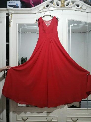 красное длинное платье в пол в Кыргызстан: Продаю нарядная вечерняя платья 42-размер ни разу не одевали.Теги