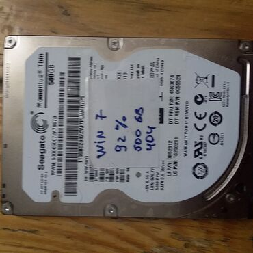3.5 - 2.5 HDD    500 gb 2,5 Hdd Hitachi - 100 % 500 Dney - 35 azn