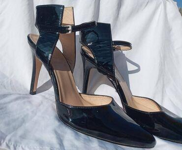 Туфли лакированный размер 37-38свет черный пр De Marko италянский