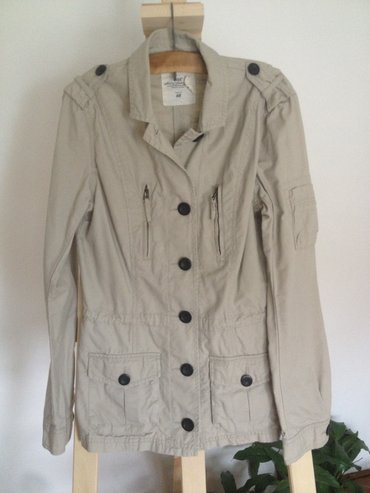 H& M zenska tanka jakna, velicina 34, 100% pamuk, krem boje, nova, - Belgrade