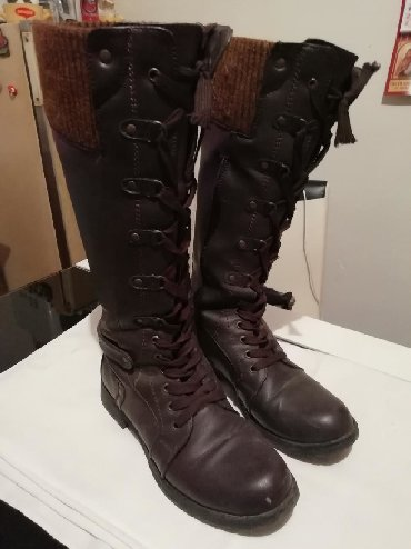 Braon kožne čizme bez oštećenja br 38 ug 23,5 - Nis