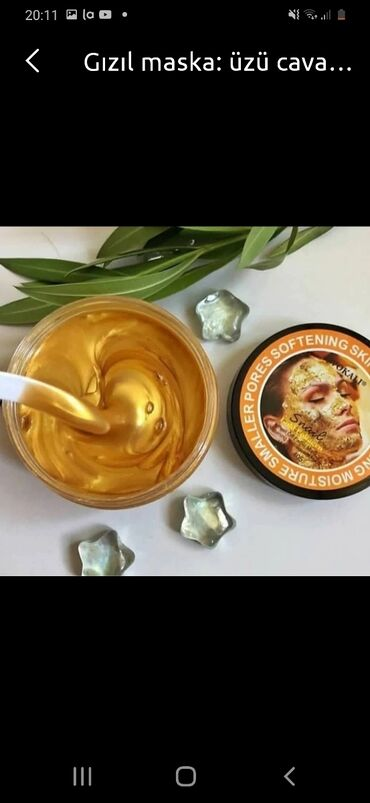 Kosmetika - Masazır: Qızılı maska
