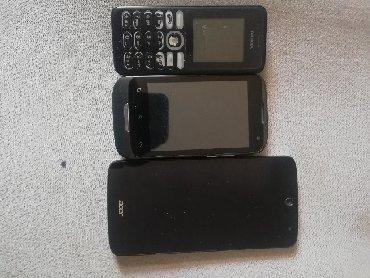 Nokia razbijen ekran. Alcatel prikazuje beli ekran i nema bateriju a