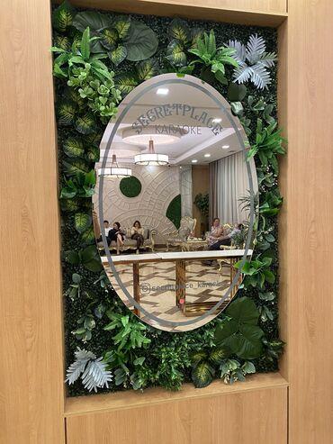 фритюрница бишкек in Кыргызстан | ДРУГОЙ ДОМАШНИЙ ДЕКОР: Вертикальный озеленение стены Зеркало с травами искусственный трава