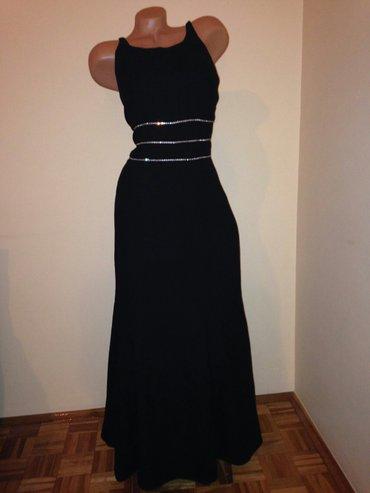 Duga crna haljina sa cirkonima - Belgrade