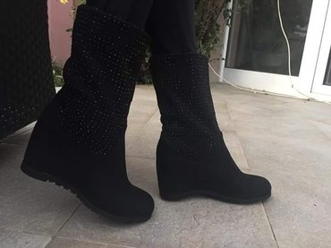 Prelepe čizme sa cirkonima i skrivenom platformom br.38 - Batajnica