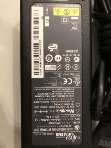 Fujitsu Siemens Notebook ucun original adapter